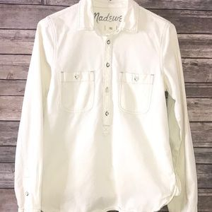 White Madewell Top with Buttons